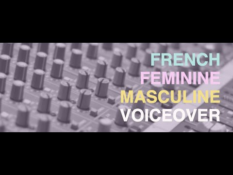 record the best French Female Voice Over
