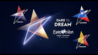 Eurovision Song Contest | My Top: Croatia, Slovenia & Romania
