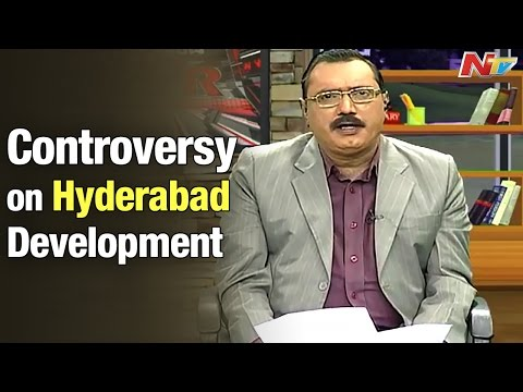 KSR Live Show - Discussion on controversy about Hyderabad development - Part 1