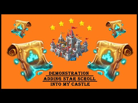 Demonstration :- Adding Star Scroll Into My Castle.