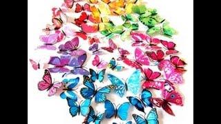 Наклейки на стену 3D бабочки на AliExpress(, 2015-09-25T15:49:45.000Z)