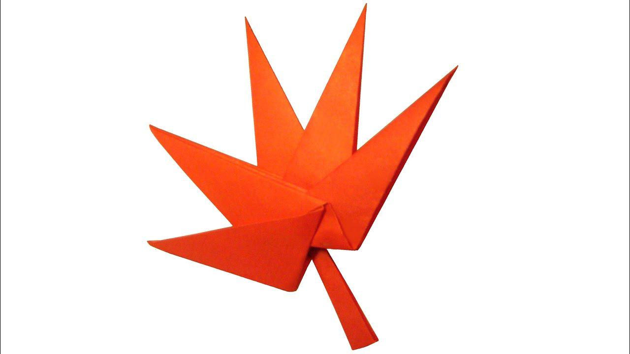 Origami Maple Leaf - YouTube - photo#4