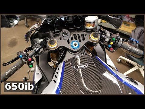 Grips, Steering Stem Nut And Stuff... | Yamaha R1M Build