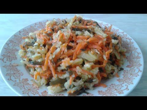 Овощной салат с морской капустой