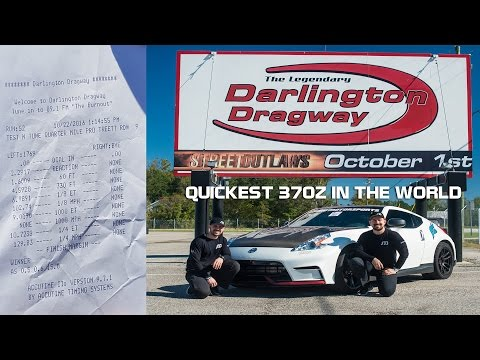 1/4 MILE ET WORLD RECORD NISSAN 370Z  - SOHO Motorsports - Stock Record Block after 4/13/17