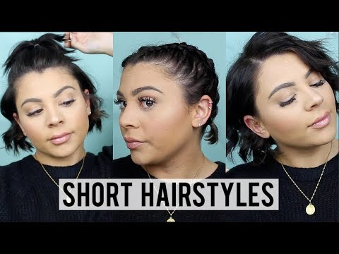 How I Style My Short Hair | 5 Easy Short Hairstyles