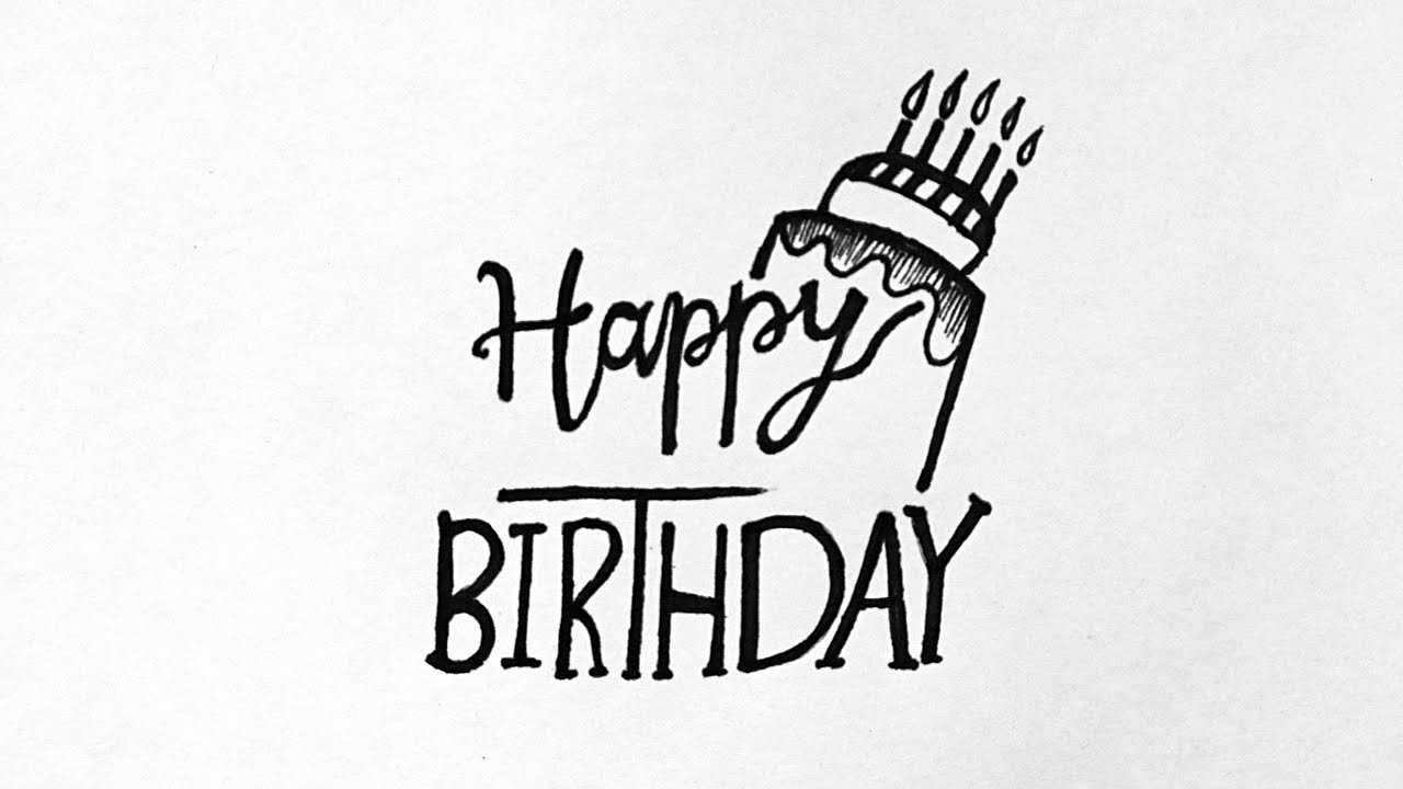 How To Write Happy Birthday In Style Step By Step Write Happy Birthday In Calligraphy Youtube