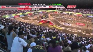 2011 AMA Supercross - RD17 Las Vegas - 250 Class East [ Part 1 of 2 ]
