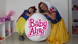 BABY ALIVE MEGA OVO GIGANTE - BRANCA DE NEVE ABRE OVO SURPRESA
