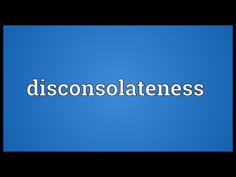 Header of disconsolateness