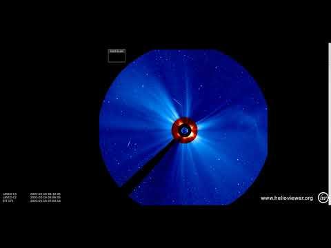 EIT 171, LASCO C2/C3 (2003-02-13 14:18:09 - 2003-02-20 10:54:09 UTC)