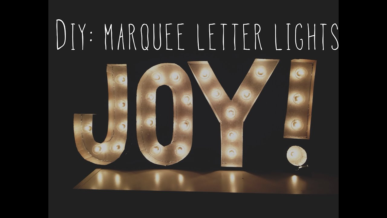 & DIY: Room Decor Marquee Letter Lights - YouTube