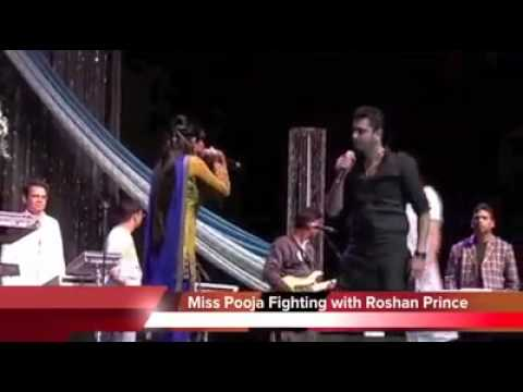Miss Pooja and Roshan Prince Fights With Each Other At Live Show