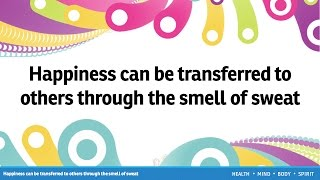 Happiness can be transferred to others through the smell of sweat