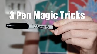 3 Incredible Pen Magic Tricks (Vanish, Production & Shrink) - Tutorial