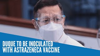 Duque to be inoculated with AstraZeneca vaccine