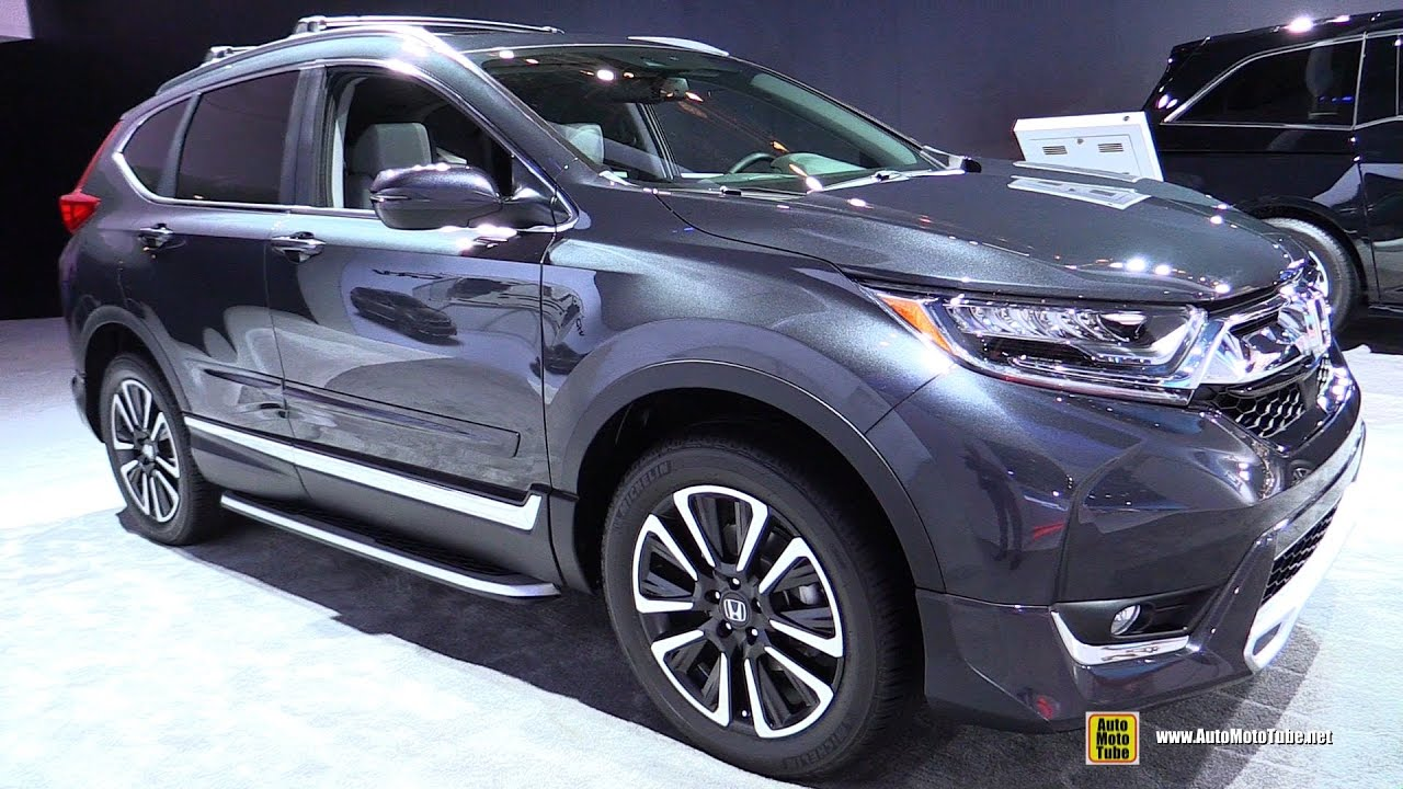 2017 Honda Crv Touring Awd Exterior And Interior Walkaround Detroit Auto Show You