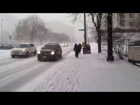 Hamilton Snow Storm Bay St. South Hamilton Ontario