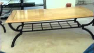 3 Set Metal Wood Top Coffe Table