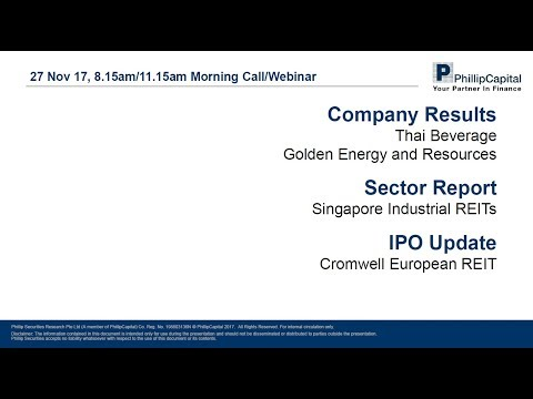 Market Outlook: Singapore Industrial REITs, Company Results and Cromwell REIT IPO Note