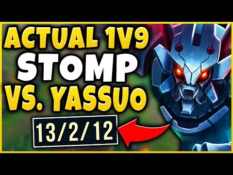1V9 CARRYING MY CHALLENGER TEAM VS. YASSUO + BROKENBLADE?!? - League of Legends thumbnail