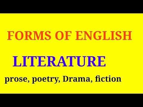 forms of literature in english