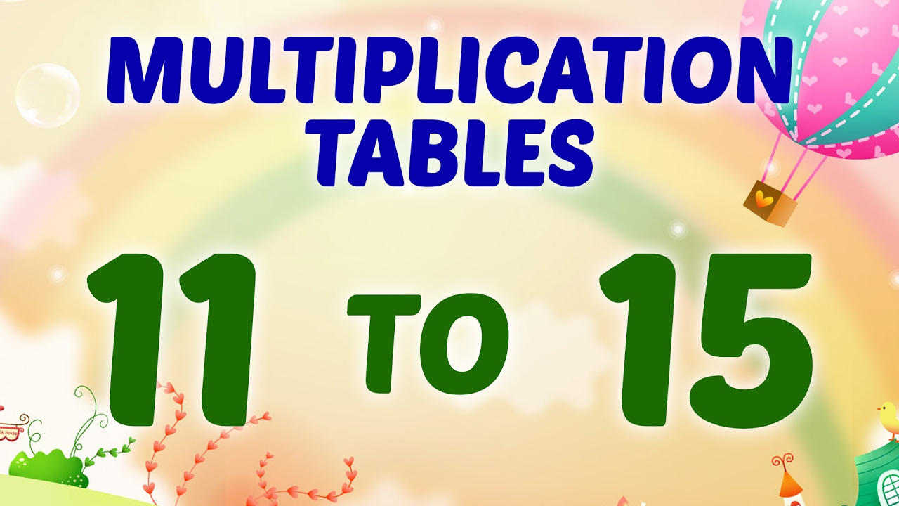 Multiplication tables 11 to 15 multiplication songs for children multiplication tables 11 to 15 multiplication songs for children preschool learning for kids gamestrikefo Image collections