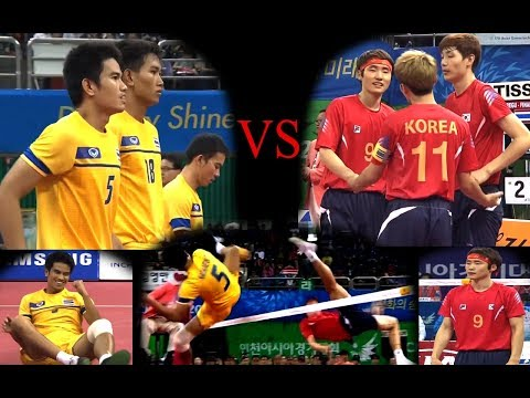 Sepak Takraw - Korea VS Thailand ! Final Match ! HD Full Game !