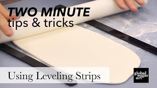 How to Use Leveling Strips  | Two Minute Tips & Tricks | Global Sugar Art