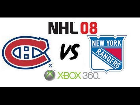 NHL 08 - Montreal Canadiens vs New York Rangers