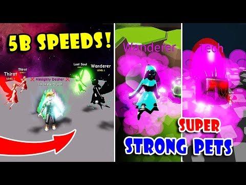 POWER OF *5 BILLION* SPEEDS & GOT SUPER STRONG PETS In Dashing Simulator!! [Roblox]
