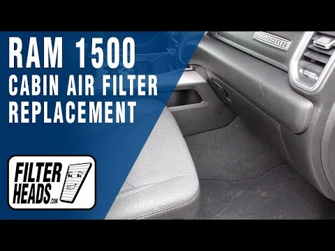 How To Replace Cabin Air Filter 2019 Ram 1500 Youtube