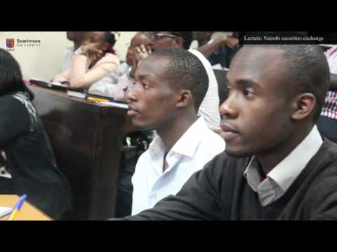 Lecture: a close-up look at how Nairobi Securities Exchange operates with CEO - Terry Adembesa