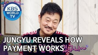 Jungyu reveals how payment of actors works [Happy Together/2019.12.12]