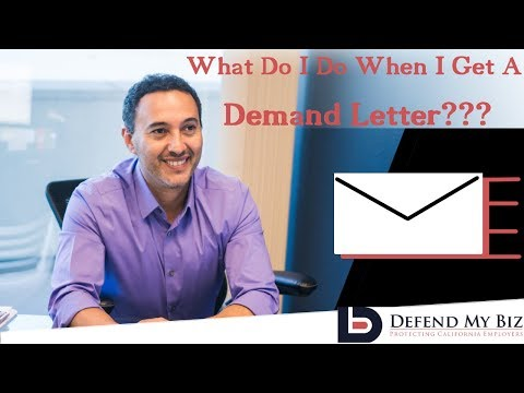 What To Do If You Get A Demand Letter