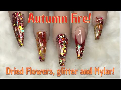 🍂🔥 Autumn Fire! | Acrylic Nails | Nail Sugar