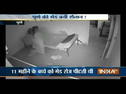 Caught On Camera: Maid thrashes, mishandles 11-months-old baby - India TV thumbnail