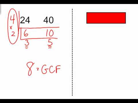 Finding The Gcf Using The Ladder Method