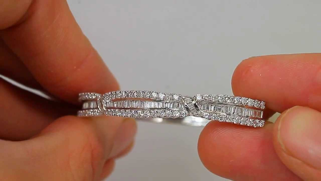 bridals silver bracelet pin diamond moonlit bangles bridal bangle vintage