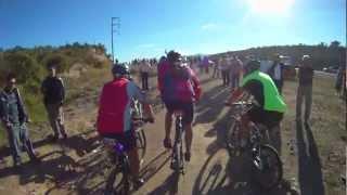 Desafío al Valle del Río Pinto 2012 - Resumen en carrera 1 de 3 (MTB Race with helmet cam)