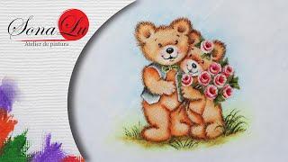Ursinhos Fofinho em Fraldinha por Sonalupinturas