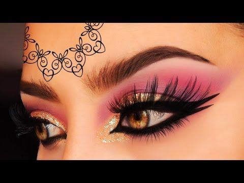 Arabic  Pakistan Wedding Makeup Tutorial, Golden, Marsala, Purple