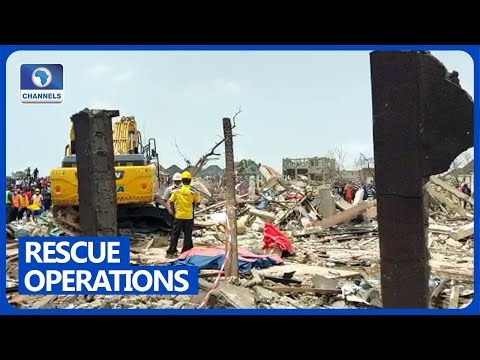 DEVELOPING STORY: Officials Recover Three More Bodies From Lagos Explosion Site