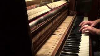 Slow Sad Piano Music. Winter Day. Solo Piano