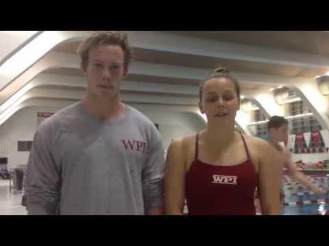WPI Swimming and Diving Post-Meet Interview - Andrew Kelleher and Emily Martin
