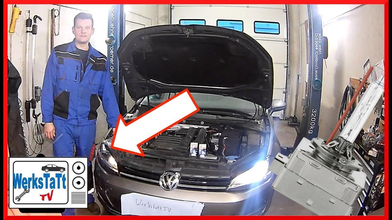Vw Golf 7 Xenonbrenner Wechseln Replace Xenon Bulb