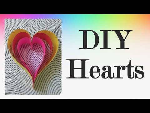 Hearts from Paper Strips Easy