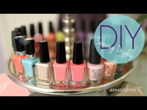 DIY Rotating Nail Polish & Jewelry Display EASY Cute How To Make
