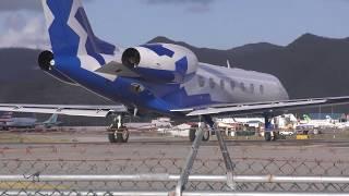Maho Beach Jet Blast Private Jet St Martin SXM