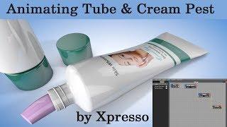 Animating tube and cream pest _Cinema 4d_Part 2